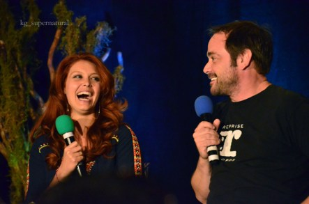 Alaina Huffman & Mark Sheppard (the Queen & King of Hell)