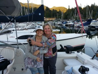 Me with my sister-in-law at Fisherman's Cove