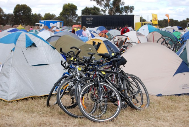 Tents & bikes