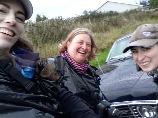Anne, Karen & Rachel with the Impala