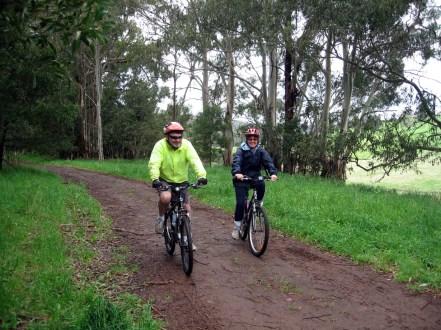 Lynn & Pete on the Walhalla Goldfields Rail Trail