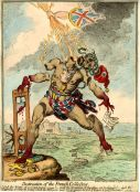 Gillray, Destruction of the French Colossus