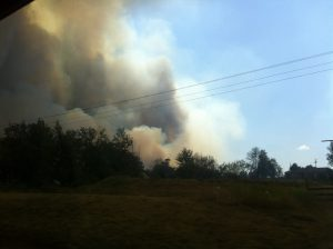 Fires Burning Toward Keystone German shepherds & Kennels