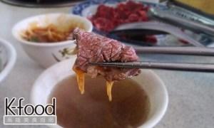 《湖東牛肉館》粉紅色的鮮嫩牛肉片