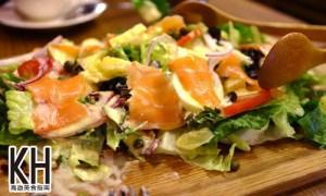 《SaSa莎莎手作咖啡輕食廚房》煙燻鮭魚沙拉