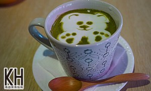 《暖暖輕食坊》熱的玉露抹茶鮮奶