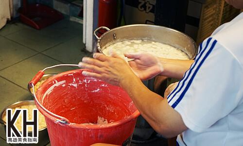 《小溝頂木瓜牛奶》現場手工製作