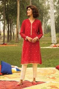 Khaadi ETE20373 RED Lawn Pret