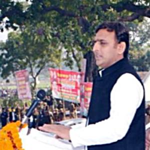 CM-AkhileshYadav-inaugurating-bridge-at-Bastee