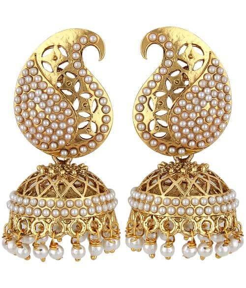 Angel In You Exclusive Golden White Earrings. M-1292