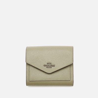 Coach Women's Crossgrain Leather Small Wallet - Light Fern