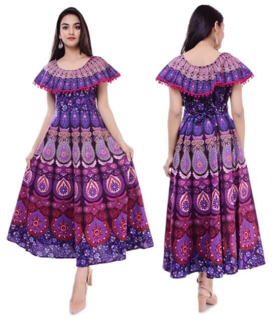 Dhruvi Traditional Cotton Long Kurta for Women