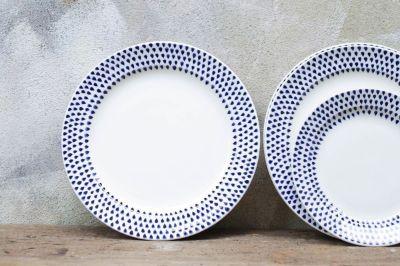 Indigo Drop Plates