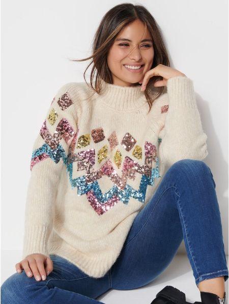 Khost Clothing Sequin Fairisle Jumper