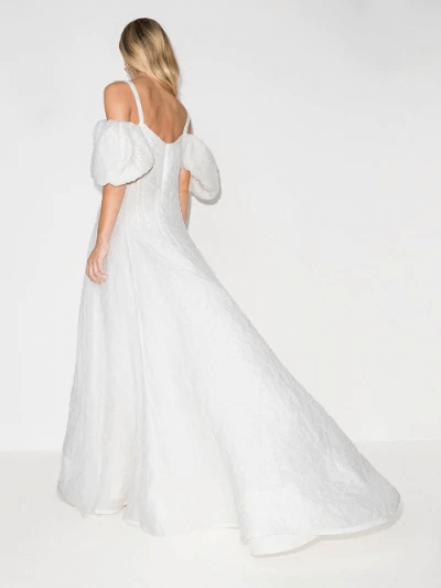 Ra Ra Off-The-Shoulder Gown
