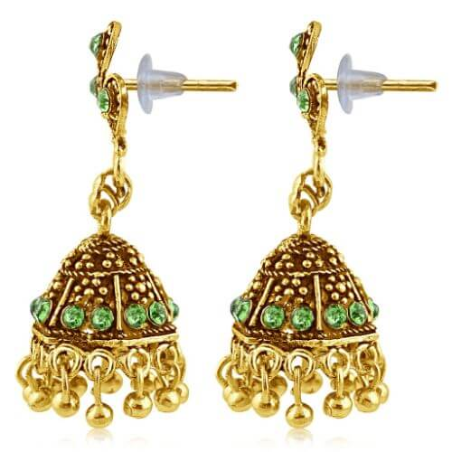 Sukkhi Gold Plated Brass & Copper Jhumkis For Women
