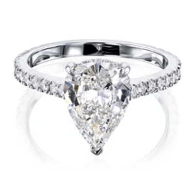 THE PEAR HIDDEN HALO DIAMOND RING (GIA CERTIFIED)