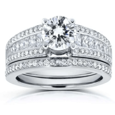 WIDE MULTI ROW DIAMOND BRIDAL