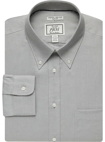 1905 Collection Slim Fit Button-Down Collar Dress Shirt