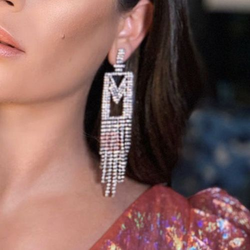 Alloy Romantic Diamante Anniversary Earrings