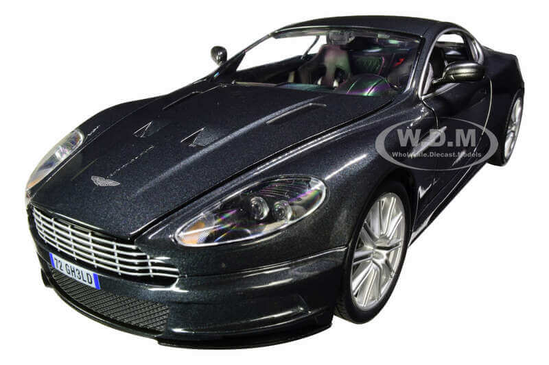 Aston Martin DBS Quantum Silver - Dark Gray Metallic (James Bond 007) Quantum of Solace (2008) Movie 1-18 Diecast Model Car by Autoworld