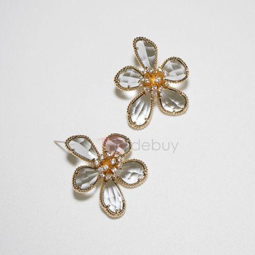Bronze Floral Korean Gift Earrings