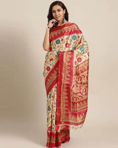 CHHABRA 555 Floral Print Saree