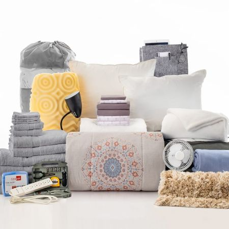 Deans List - 31 Piece Twin XL Bedding and Bath Set