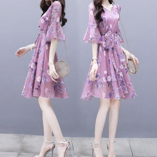 Slim Slim Floral Long Dress