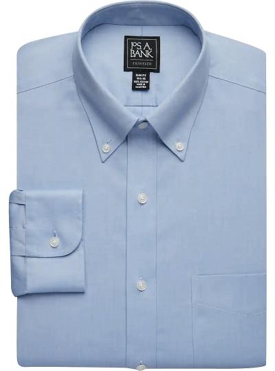 Traveler CollectionSlim FitButton-Down Collar Dress Shirt