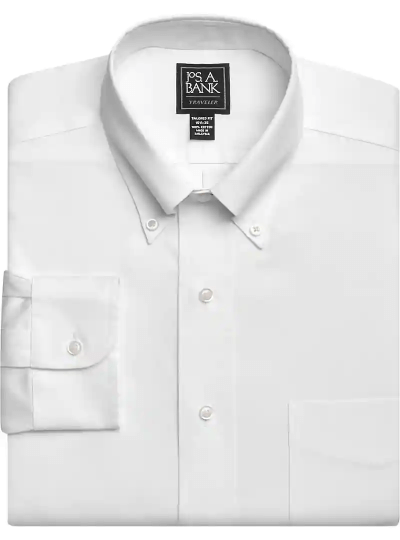 Traveler Collection Tailored Fit Button-Down Collar Dress Shirt
