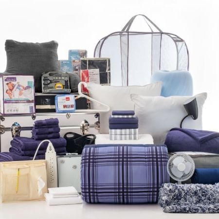 Ultimate Room Collection - 50 Piece Twin XL Bedding and Bath Set