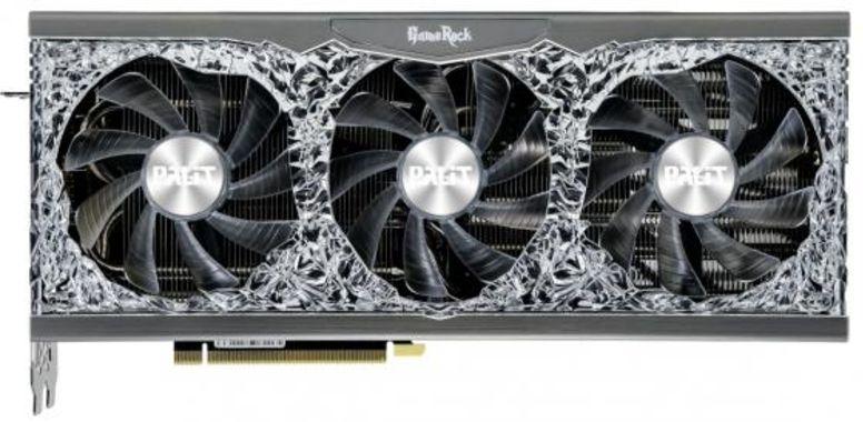Видеокарта Palit nVidia GeForce RTX 3080 GameRock OC PCI-E 10240Mb GDDR6X 320 Bit Retail NED3080H19IA-1020G