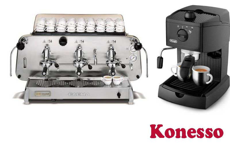 15 Best Selling Coffee Machines from Konesso