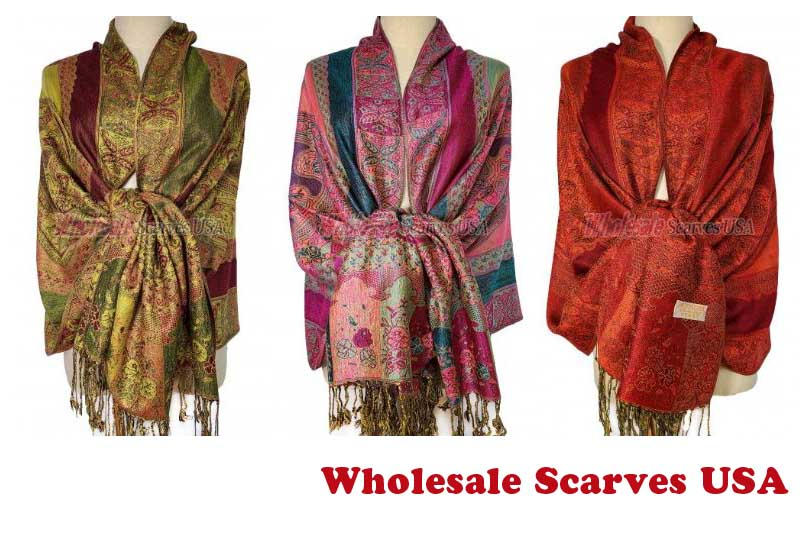 16 Best Paisley Flower Shawl from Wholesale Scarves USA