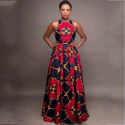 African Dresses For Women Sleeveless Dashiki Robe 2020 Summer Plus Size Dress Ladies Traditional African Clothing Fairy Dreams