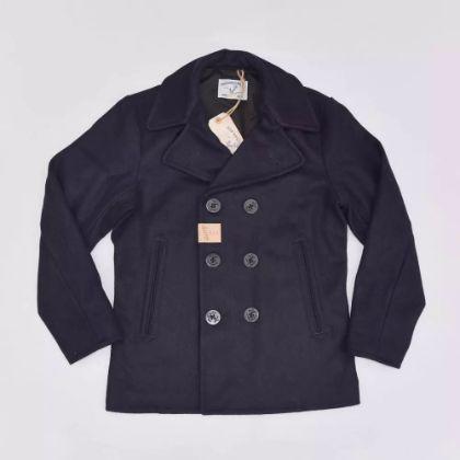 BOB DONG US Navy 740 Pea Coat 1940s USN Heavy Wool Reefer Jacket Slim Fit