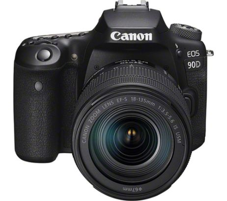 CANONEOS 90D DSLR Camera with EF-S 18-135 mm II