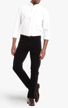 Charisma Relaxed Straight Pants in Black Cord