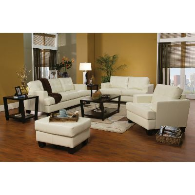 Cream Cappuccino Leather Sofa
