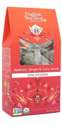 FRUIT TEA ENGLISH TEA SHOP BEETROOT GINGER & CURRY LEAVES