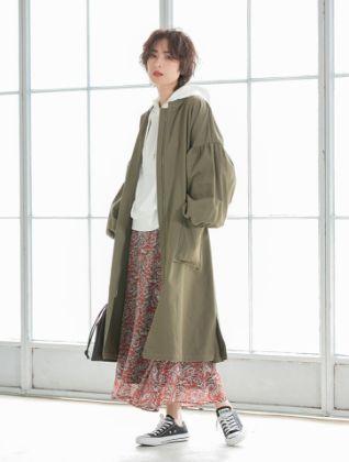 Fifth - Volume sleeve design long blouson