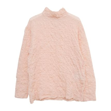 High Neck Crinkled Texture Top