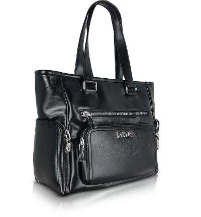 ICE PLAY - Black Front Pocket Satchel Bag