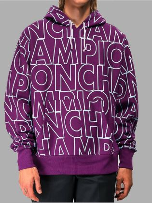 Lovely Street Hooded Collar Letter Print Purple Men Hoodie