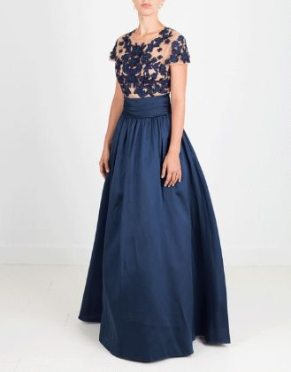 MARCHESA NOTTE - Mikado Beaded Ball Gown