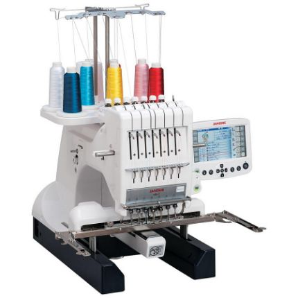 New! Janome MB-7 Seven-Needle Embroidery Machine (NI) With Free Bonus Bundle!