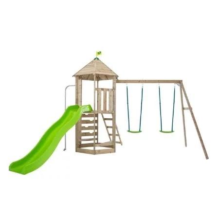 TP Castlewood Beeston Wooden Swing Set & Slide-FSC