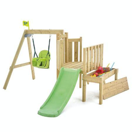 TP Forest Toddler Wooden Swing Set & Slide-FSC