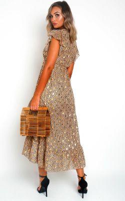 IKRUSH Heath Poka Dot Maxi Dress GOLD